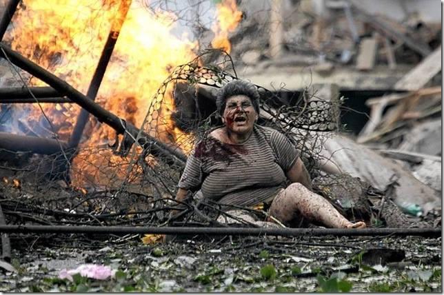 Оцеляля по чудо грузинка след руската бомбардировка над град Гори