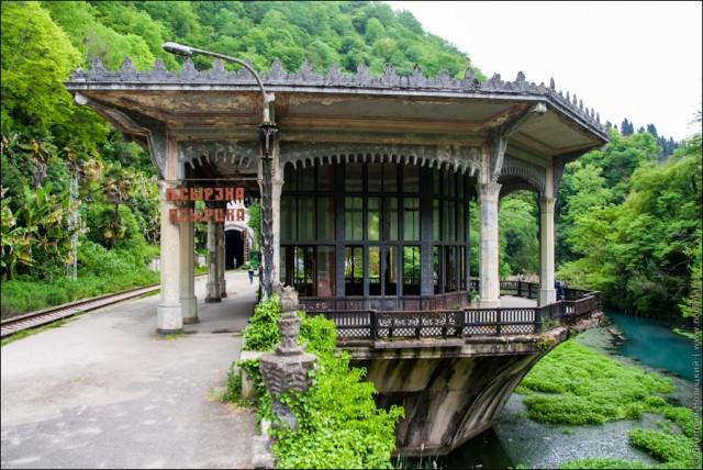 ЖП спирка край курортния град, строена от грузинците в началото на миналия век.